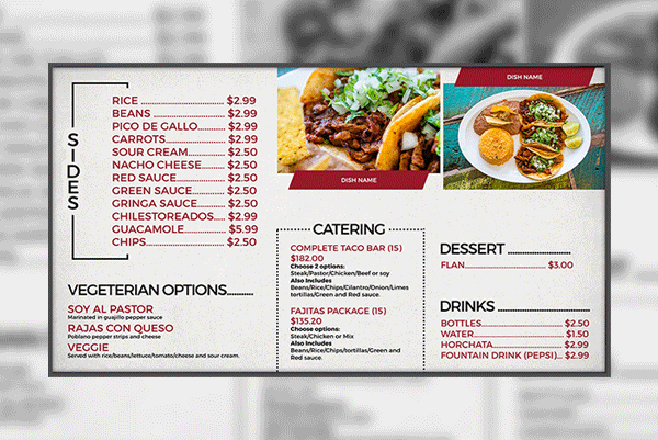 digital-menu-display